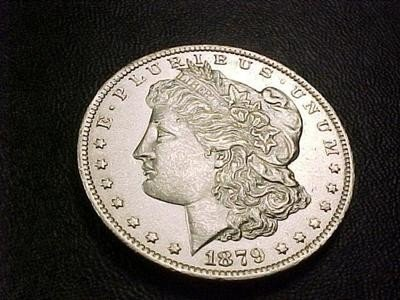 3S: 1879 s Morgan UNC