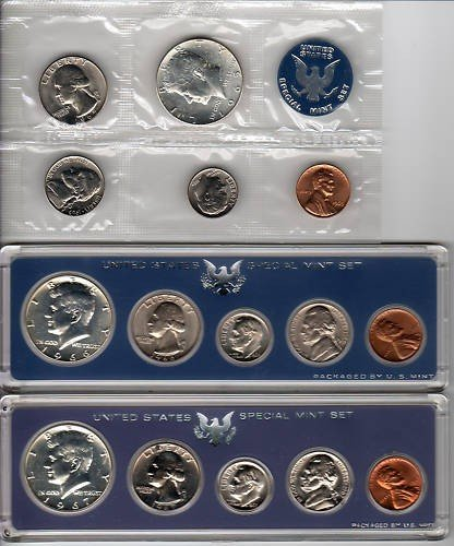 477S: 1965-6-7 Special Mint Sets