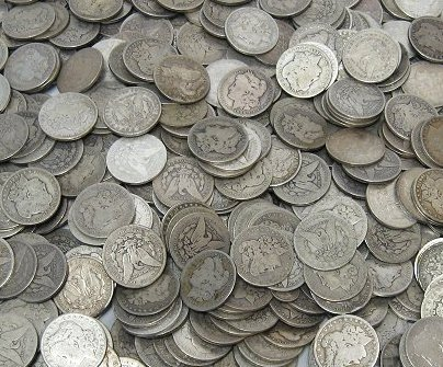 6: Lot of 100 Morgan Dollars - ag-xf
