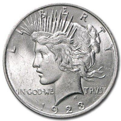 10: 1923 UNC Peace Silver Dollar