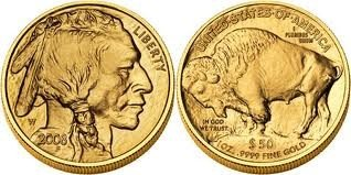 5K: 1 oz Us Gold Buffalo Bullion 24K .9999