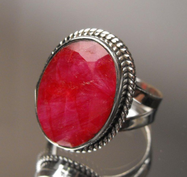 7W: 9.78 ct Ruby Ring Sterling $ 2700 GG GIA