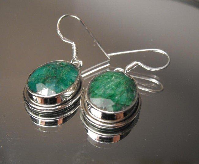 10W: 15.29 ct Emerald E/R Sterling $ 2750 GG GIA