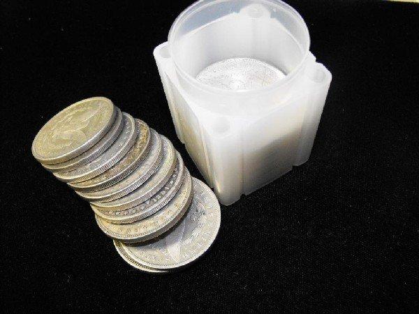 3: Roll of Morgan Silver Dollars- 1878-921 g-xf