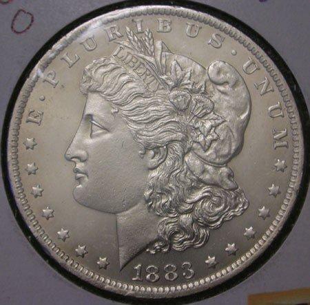 7: 1883 Uncirculated Morgan Silver Dollar