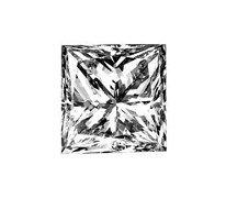 2X: .72 ct. Princess-Cut Loose Diamond (E, VS1)