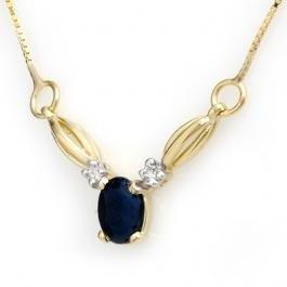 3: Genuine 1.30ctw Sapphire & Diamond Necklace Yello