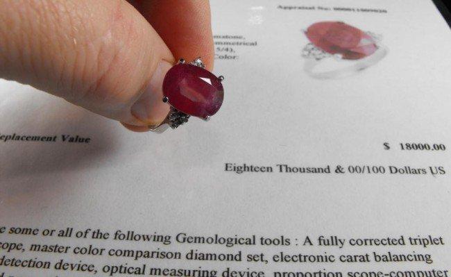 2A: 8.73 tcw RUBY & DIAMOND Ring