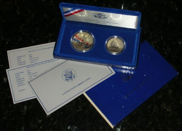 106S: 1986 Statue Of Liberty Proof Set (2 coin)