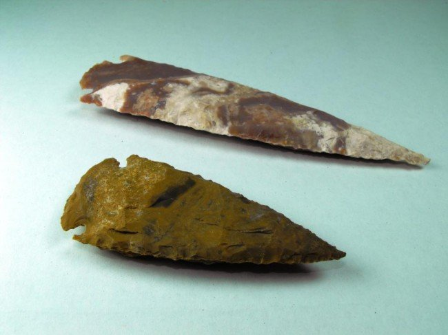 "3C: 4"" - 5"" Spear Points Hand Hewn Artifacts"