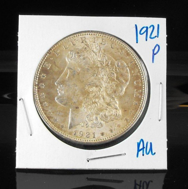 4A: 1921 P AU Morgan Dollar