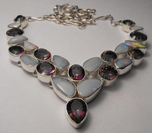273W: STAR LOT - 62 tcw Mystic Topaz & Opal Necklace