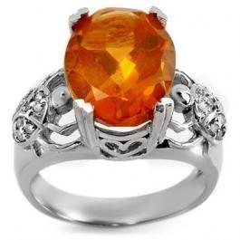 2F: 6.20 ctw Citrine & Diamond Ring