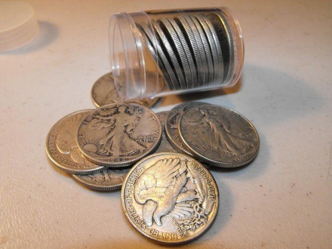 2S: Roll of Walking Liberty Half Dollars