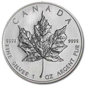 2C: (10) Silver 1 oz Maple Leaf Bullion