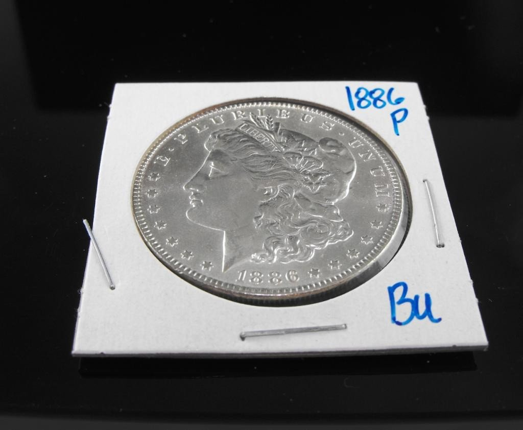 9A: 1886 p BU Morgan Dollar