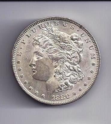2: 1880 P Morgan Silver Dollar BU