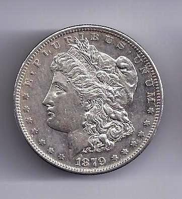 3: 1879 S Morgan Silver Dollar AU