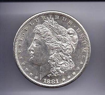 4: 1881 S Morgan Silver Dollar PL