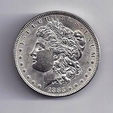 6: 1885 P Morgan Silver Dollar UNC