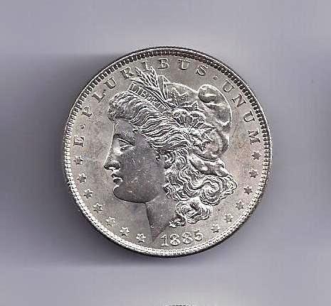 7: 1885 P Morgan Silver Dollar UNC