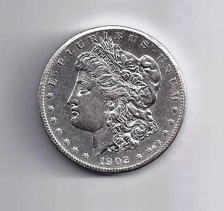 9: 1902 O Morgan Silver Dollar AU - PL