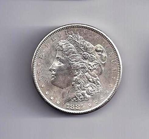10: 1881 S Morgan Silver Dollar PL