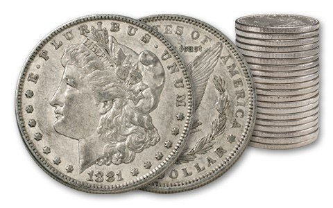 5B: (20) Morgan Silver Dollars- AG XF