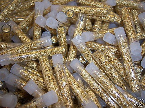 6B: (1000) Gold Leaf Type  Vials - Non Bullion