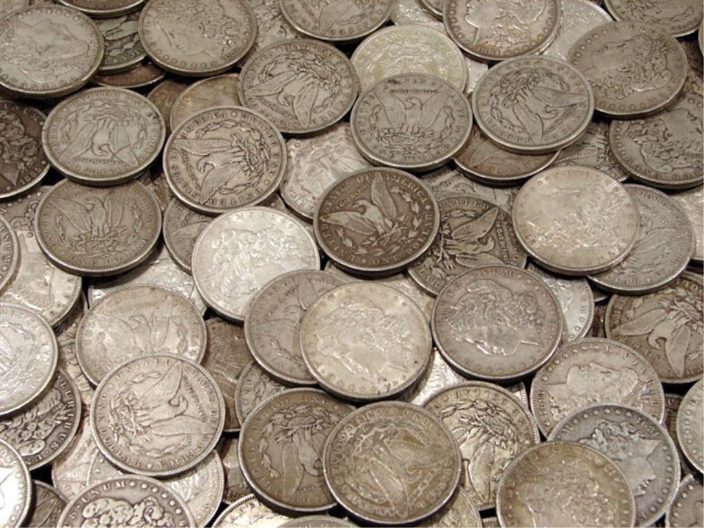 8B: (100) Morgan Silver Dollars - AG -AU