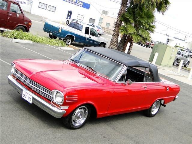 1J: 1962 Chevy Nova - Red Convertible Restored! - 10