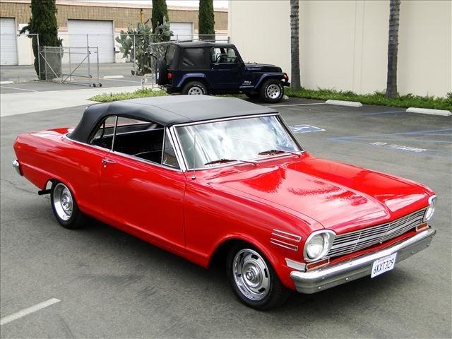 1J: 1962 Chevy Nova - Red Convertible Restored!