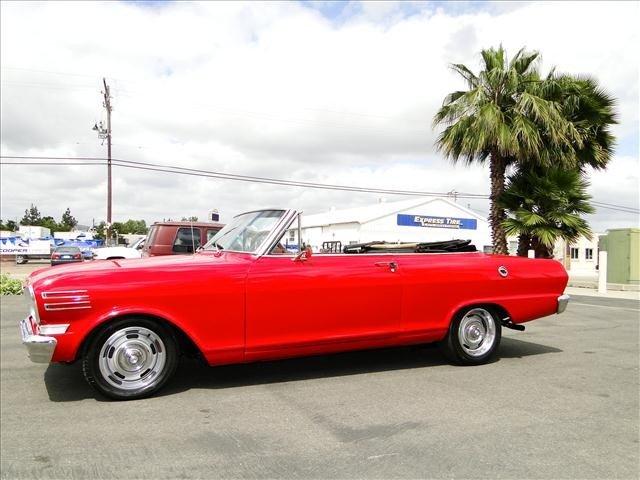 1J: 1962 Chevy Nova - Red Convertible Restored! - 2