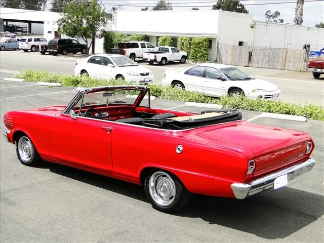 1J: 1962 Chevy Nova - Red Convertible Restored! - 9
