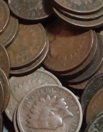 3: Lot of 10 1800's Indian Head Cents