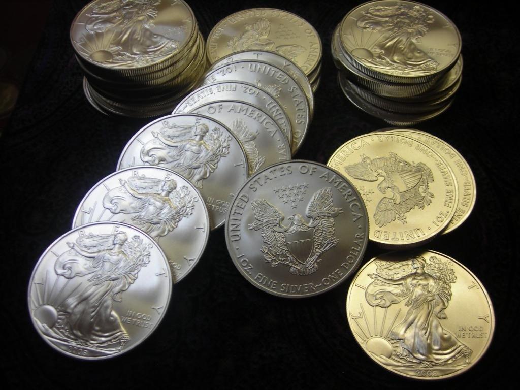 6: Lot of 20 Silver Eagle- 1 oz US Bullion