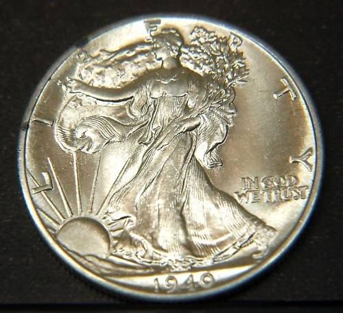 7: 1940 Walking Liberty Half Dollar- UNC