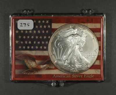 11: Random Date Silver Eagle in Fancy Holder