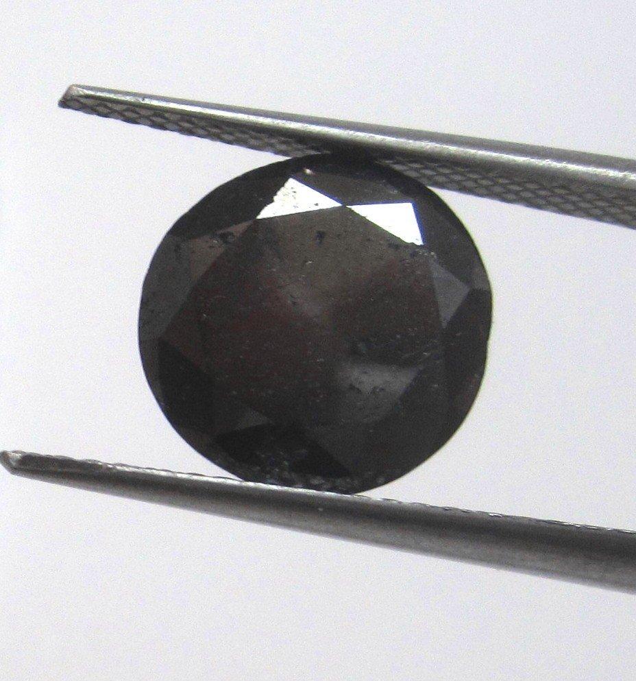2W: 4.41 ct. Black Diamond - Nice Gem -