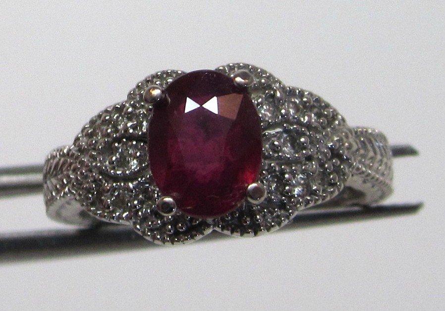 7W: 2.10 TCW Ruby / Diamond Ring w/ Card $ 1.8K