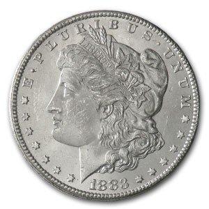 1: 1883 Morgan Silver Dollar - UNC -