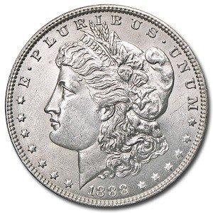 5: 1888 P Morgan SIlver Dollar - UNC