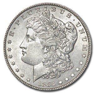 9: 1884 O Morgan Silver Dollar UNC