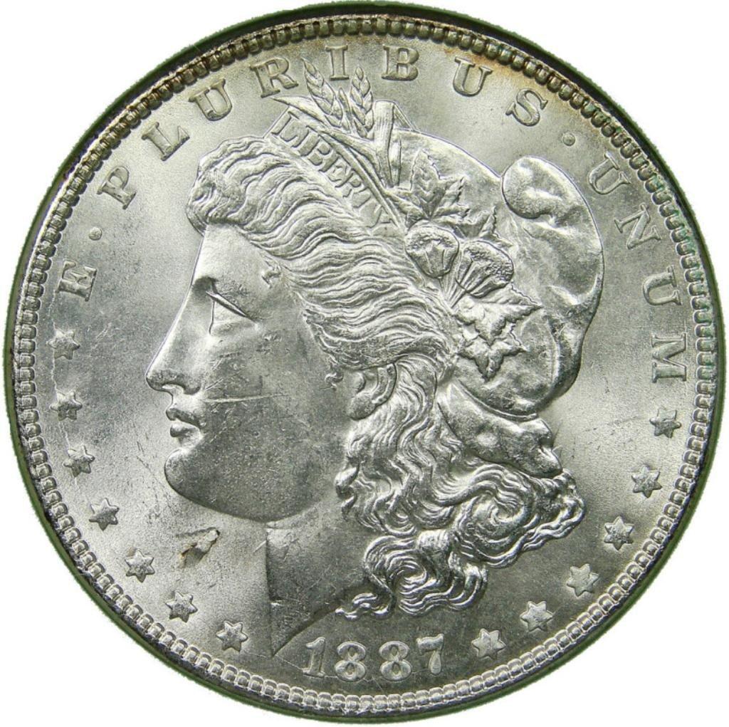 10: 1887 O UNC Morgan SIlver Dollar