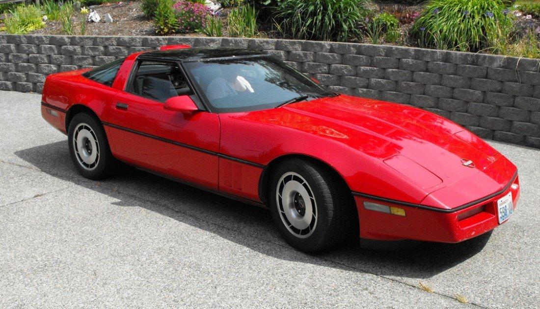 1D: JUST RELEASED FOR BIDDING 1987 Red Corvette