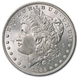 4: 1885 o MS 63 PLUS  Morgan Silver Dollar