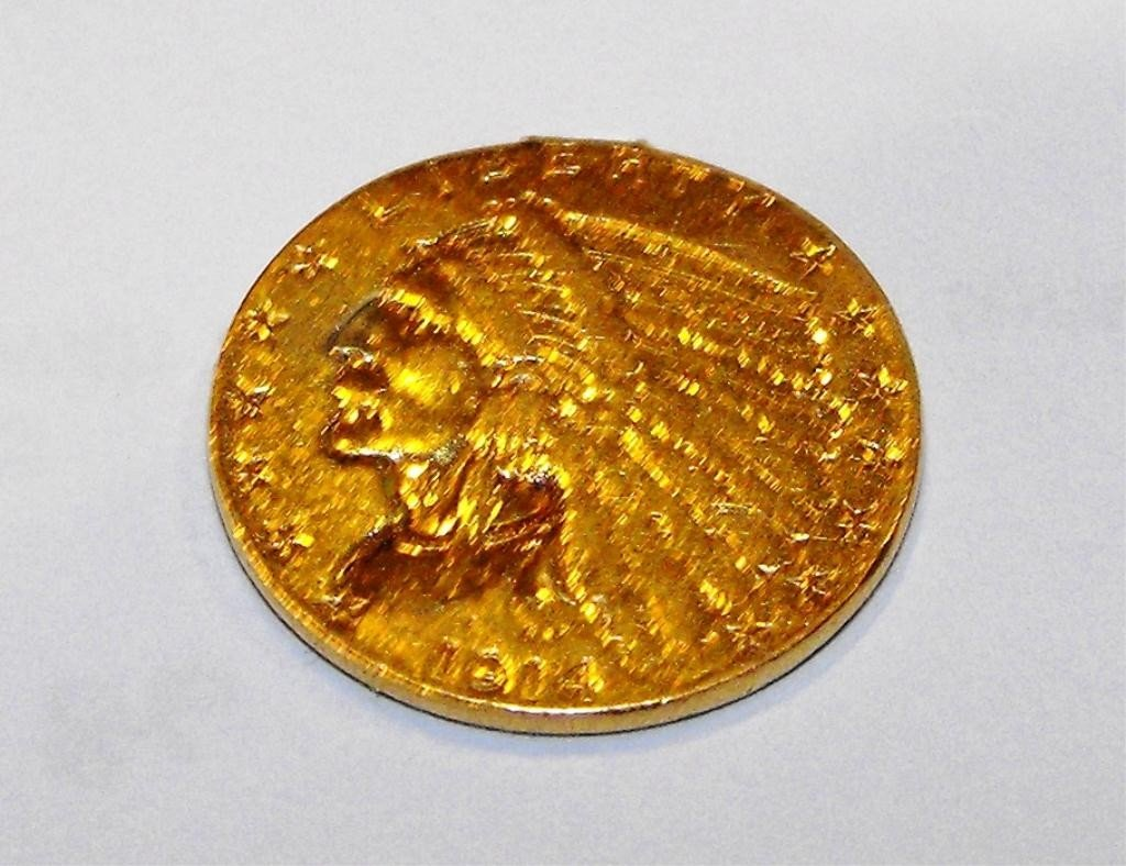 1Y: 1914 d $2.5 Gold Coin- Ex Jewelry