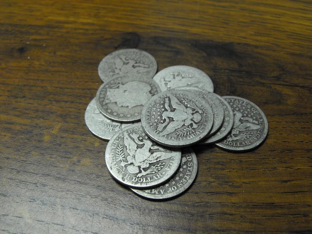 2S: 10- Barber Quarters - AG-VG