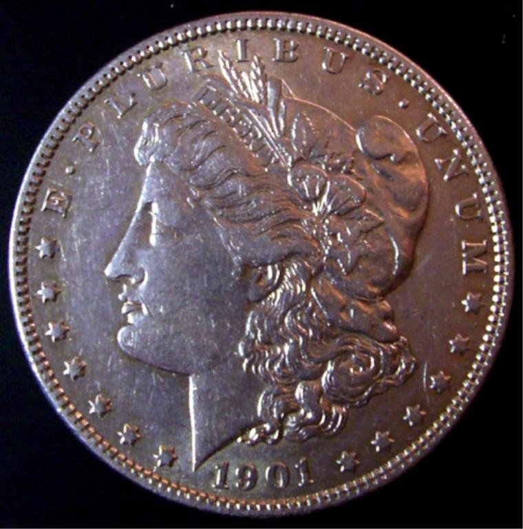 3L: 1901o unc silver dollar morgan