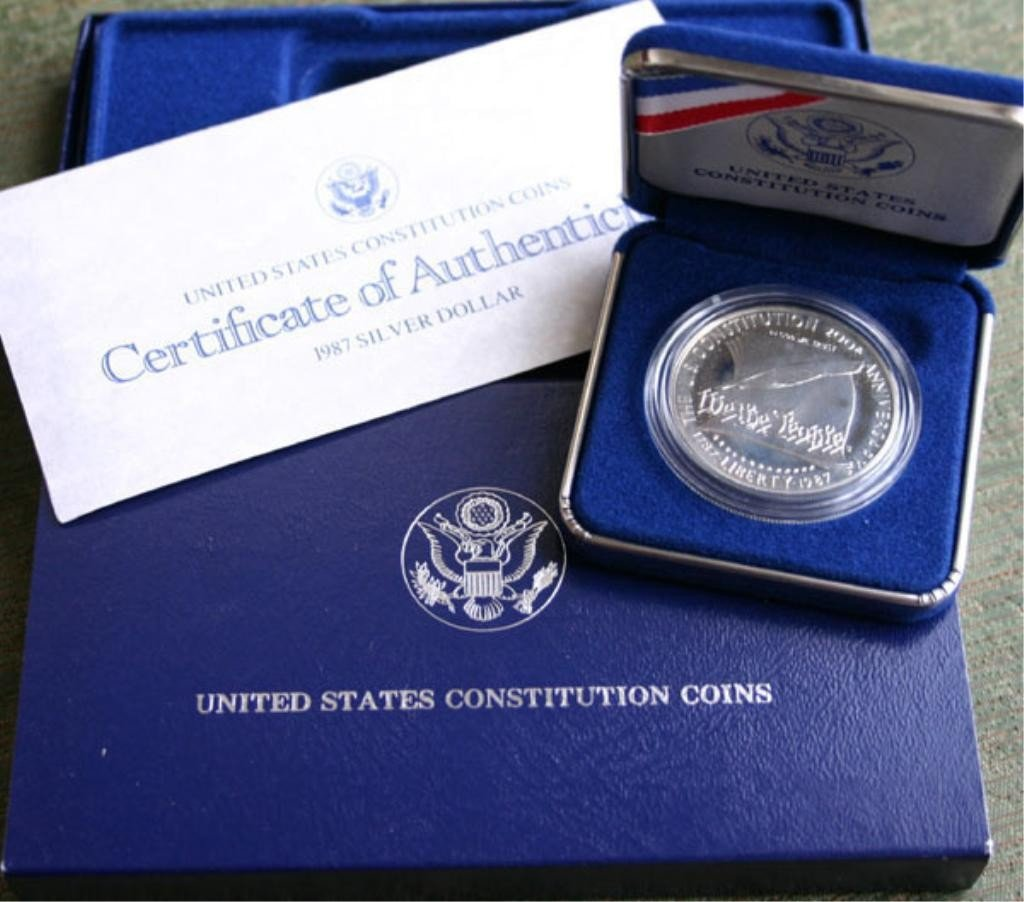 2: 1987 US Constitution Silver Proof Half